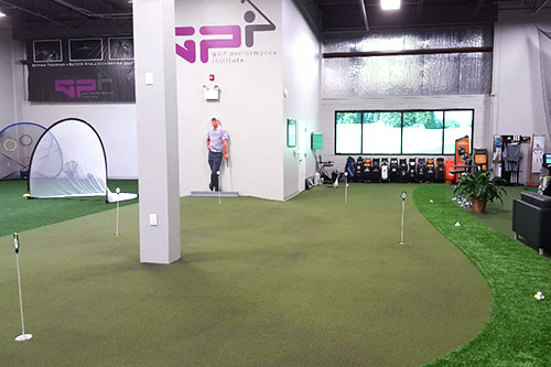 Tour greens commercial golf green design for Indoor facility design