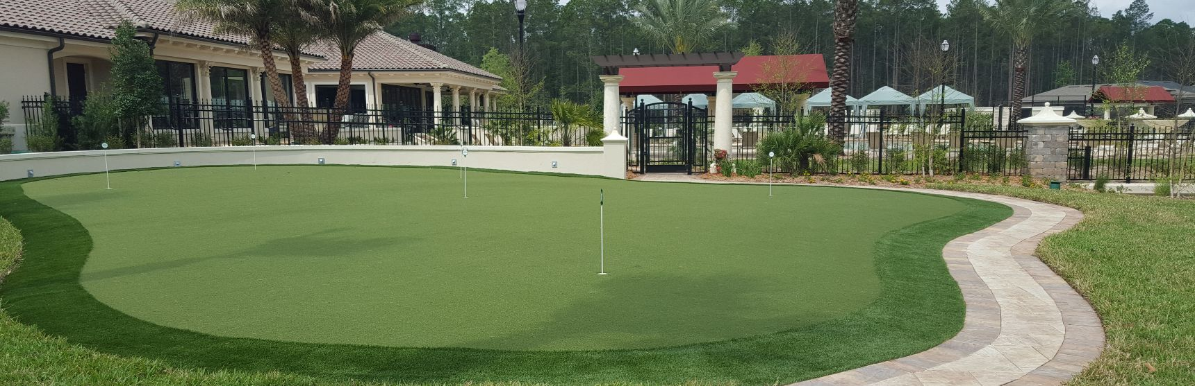 tour greens synthetic turf golf courses