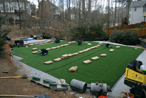 Tour Greens backyard putting green professional installation