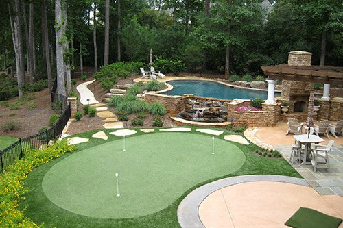 Backyard Putting Green Installation Cost - Tour Greens Backyard Putting Green Cost